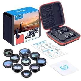 Kit De Lentes Para Celular Apexel 10 En 1 Con Telescopio