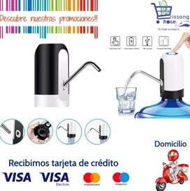 Dispensador de Agua Eléctrico Recargable Usb  para Botellón Universal
