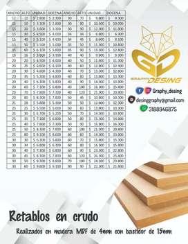 Retablos madera MDF