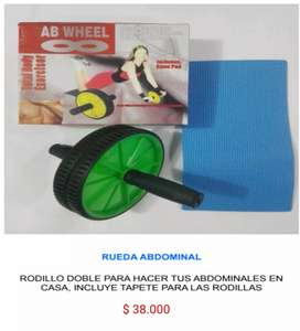 Rueda rodillo para abdomen abdominales ejercicio fitness