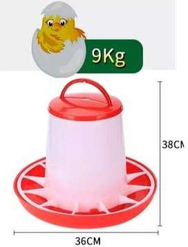 Comedero Para Pollos De 9kg Con Tapa
