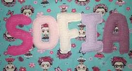 Guirnalda Con Letras Crochet 5 Letras