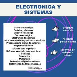 Trabajos y talleres de física, cálculo, química, electrónica y sistemas, CURSOS UNAD, plataformas virtuales, asesorías