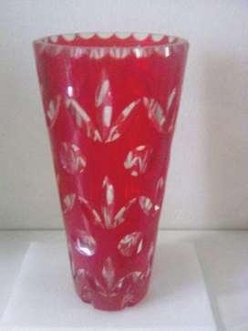 Florero en cristal de murano rojo