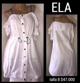 Vestido blanco ela (nuevo)