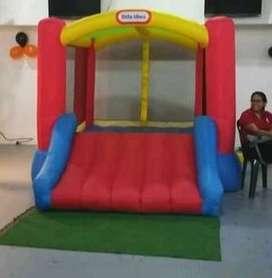 Castillo inflable americano para niños entre 0 y 5 años entre