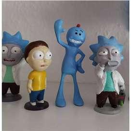 Coleccion Figuras Rick Y Morty X 4 Und