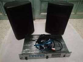 """Combo cabinas 8"""" y amplificador gemini pa 700"""