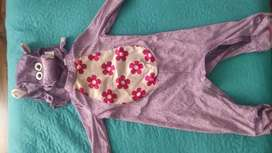 Disfraz de hipopótamo para niña usado