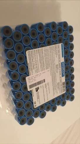 Tubos de citrato de Sodio 3,8% de 4,5 ml.