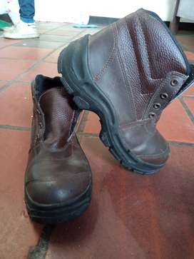 Botas de cuero punta de acero