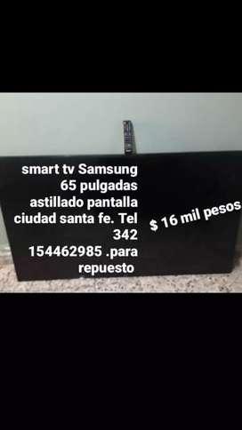 vendo tv smart Samsung 65 pulgadas astillado pantalla