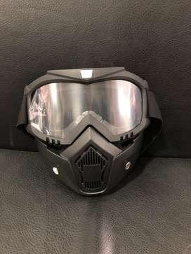 Careta casco transparente