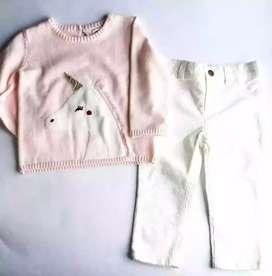 Carter's conjunto rosado para niña