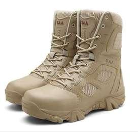 Venta botas de cuero sintetico estilo motociclista estilo militar