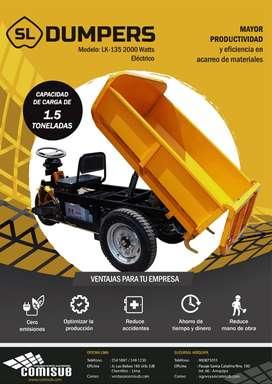 Dumper (mini) eléctrico de 1.5 Tn -Venta nuevo producto con Garantía