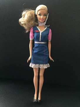 Barbie auxiliar de vuelo