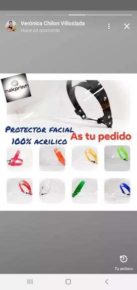 Protector facial acrílico