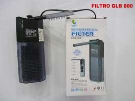 filtro para pecera GLB 800 NUEVO con capacidad de 180 Litros por hora