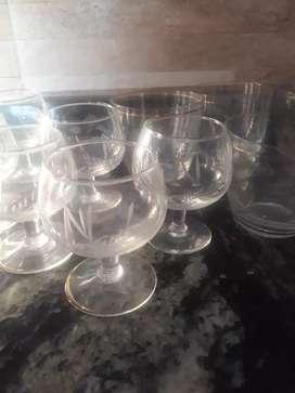 6 copas + 5 vasos