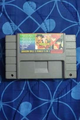 Casette de Super Nintendo Original Raro (Dragon Ball Z, 2,3,4), Ranma 1/2 y los pitufos