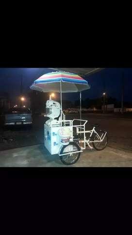 Venta d triciclo de granizados con maquina moderna