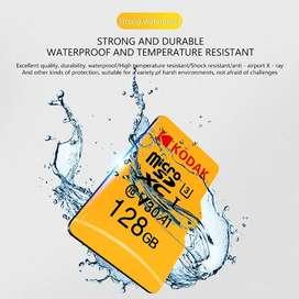 Memoria Micro SD XC 128gb Kodak Clase 10 ORIGINALES NUEVAS!!