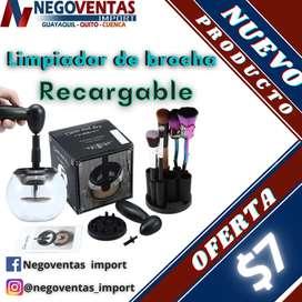 Limpiador electrico de brochas de maquillaje