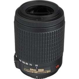 Vendo lente nikon 55-200