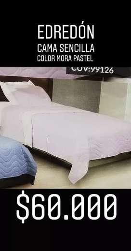 Edredón cama sencilla
