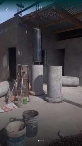 Vendo tubos de hormigón reforzados con hierro del 6, del 40 $2000 para entradas de garage, alcantarillas etc