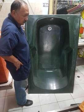 Tina bañera fibra de vidrio verde oliva