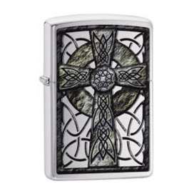 Encendedor Zippo Chrome Celtic Cross. Original. Entrega Inmediata. Por Banimported