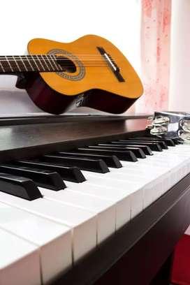 Oferta. Clases particulares de guitarra,teclado y flauta
