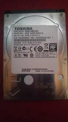 Disco Rígido para Notebook 500GB Perfectas Condiciones Sin Errores Poco Uso