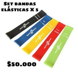 Set de Bandas elásticas X 5