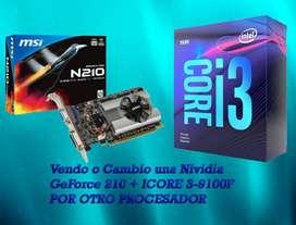 Vendo o cambio una Nividia GeForce 210 + ICORE3-9100F