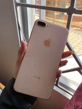 Iphone 8 plus  rose gold de 64 GB, en perfecto estado y libre de todo