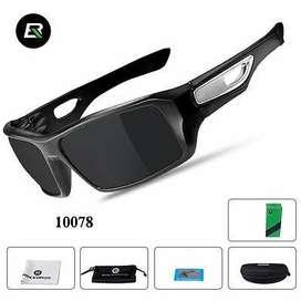 Gafas rockbros oscuras con lente polarizados o polarized nuevasestuche