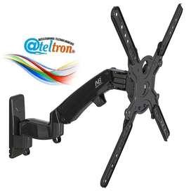 Bases soportes Tv brazo móvil  flexible movimiento horizontal vertical