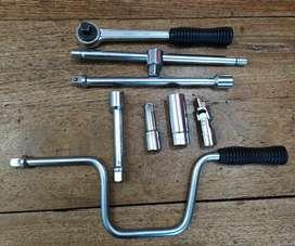 Set de llaves tubo, Críquet, Berbiquí Facom