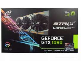 Tarjeta de Video ASUS NVIDIA GeForce GTX 1060 ROG STRIX Gaming OC 6GB