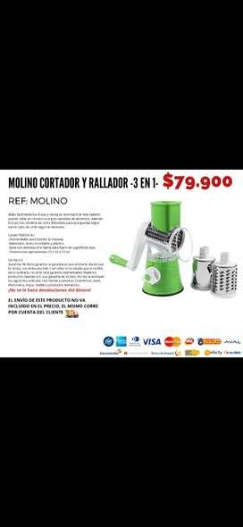 Molino cortador y rallador 3en1