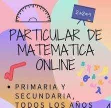Clases particulares matemática, física, química y fisicoquímica, entre otras.