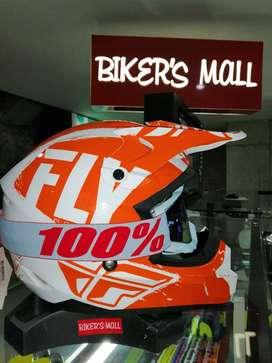 Casco Fly Kinetic Naranja Motocross-enduro-calle