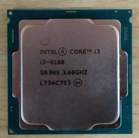 Procesador Core I3-8100, 3.60-Ghz octava generacion 8100