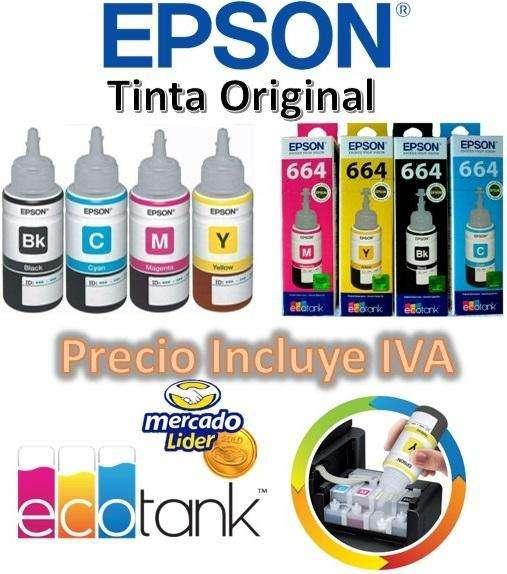 Tinta Original Epson Kit 4 Colores L220, L380, L355, L375, L395, L575, L4150, L4160, L3110 PRECIO INCLUYE IVA 0