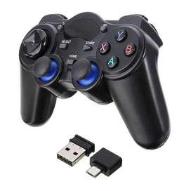 Control De Juego Gamepad Inalámbrico Joystick + Receptor Usb y Adaptador a Micro USB
