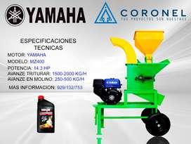 molino de granos y trituradora de forrajes con motor de 14.3 hp yamaha