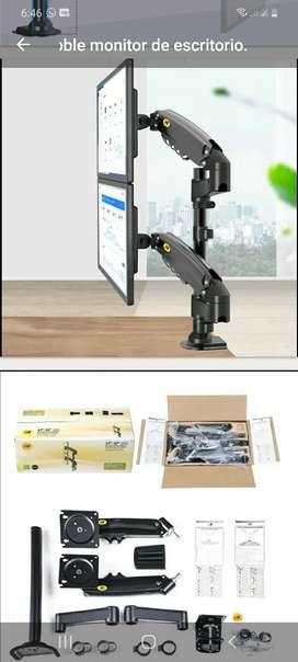 Venta e instalacion Soporte doble monitor de escritorio 14 a 29 tambien manejamos servicios de instalación